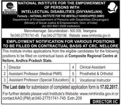 NIMH India Faculty Posts 2017 indgovtjobs