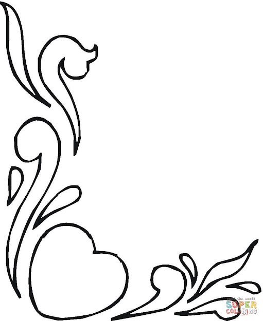 Click The Hearts And Flowers Coloring Pages