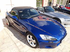Blue Honda S2000