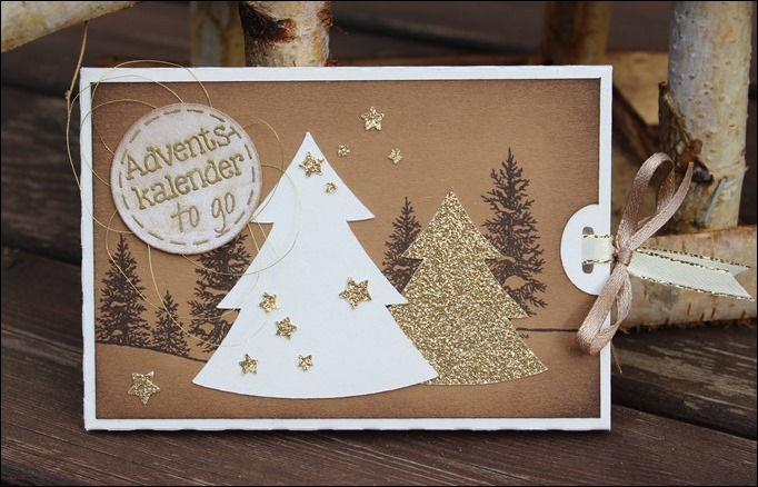 Adventskalender to go Stampin Up Braun Neutrals Tannenbaum Christmas Tree Sternenbordüre 00