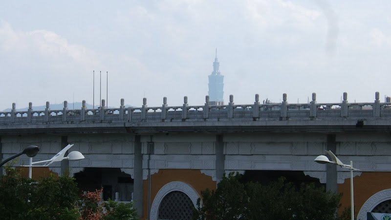 Taipei  101 view from Yuanshan MRT
