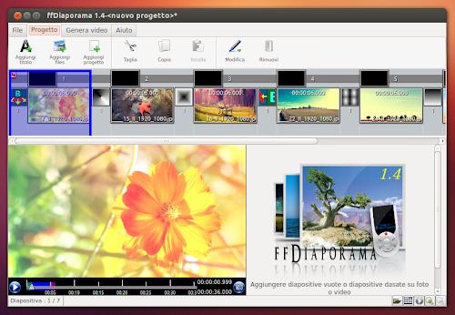 ffDiaporama 1.4 su Ubuntu