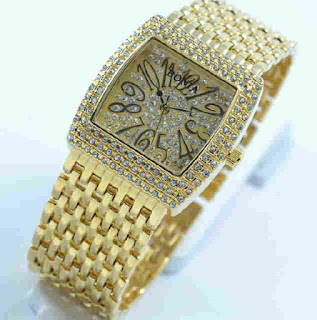 Jam tangan Bonia full diamond gold
