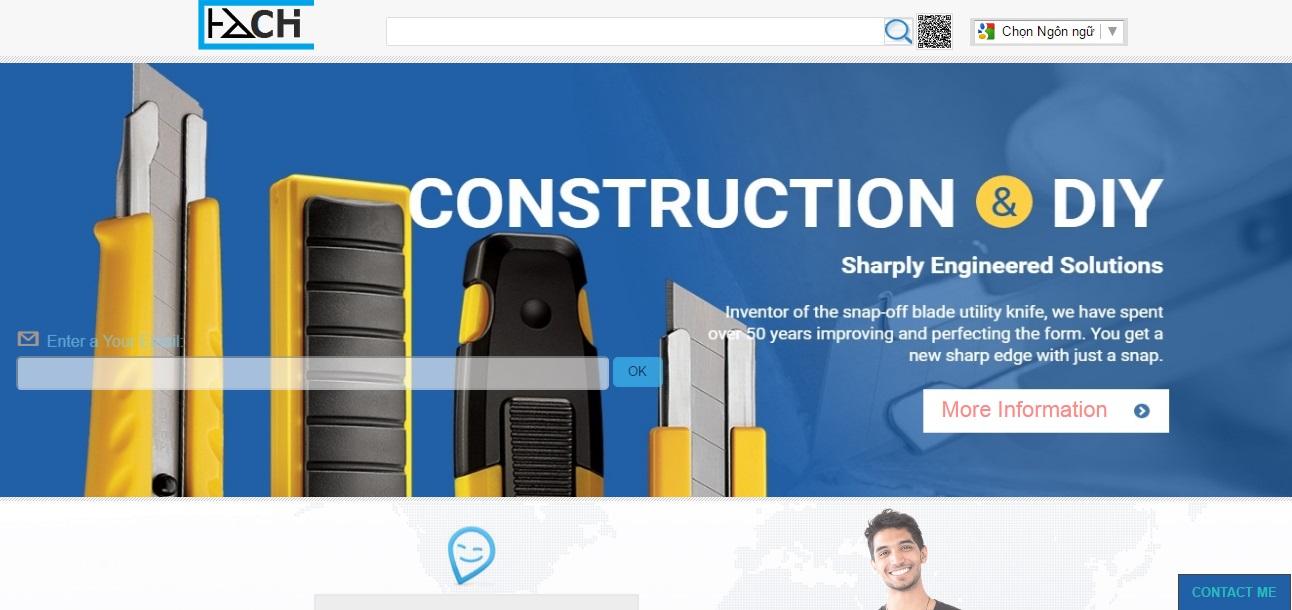 mẫu website HachibladeJP.com giá rẻ
