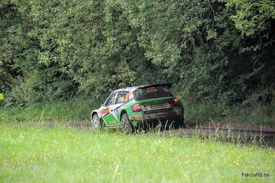 Fabian Kreim 2016 bei der ADAC Rallye Deutschland