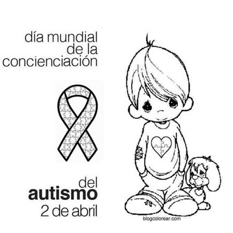 Dibujos para colorear día del autismo