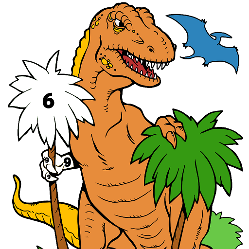 Dinosaur Color by Number - Animals Coloring Pages Icon