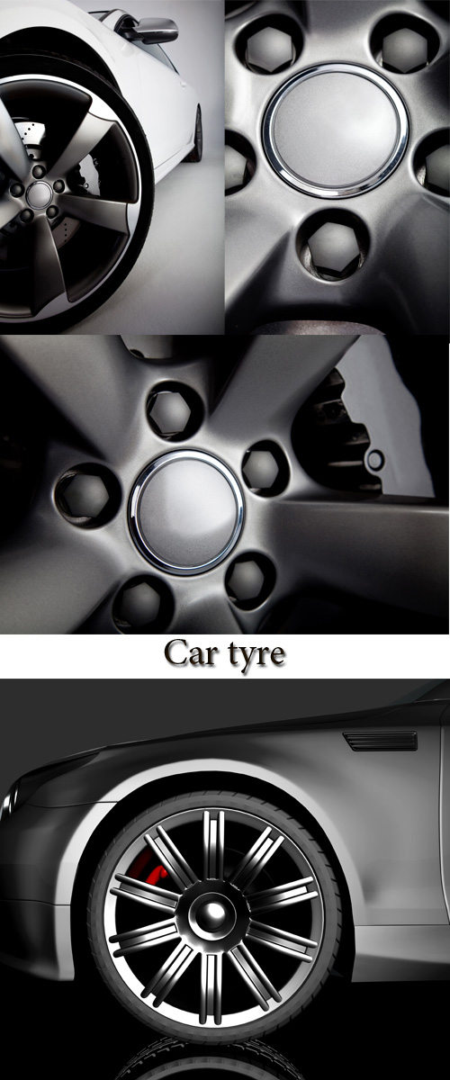 Stock Photo: Car tyre