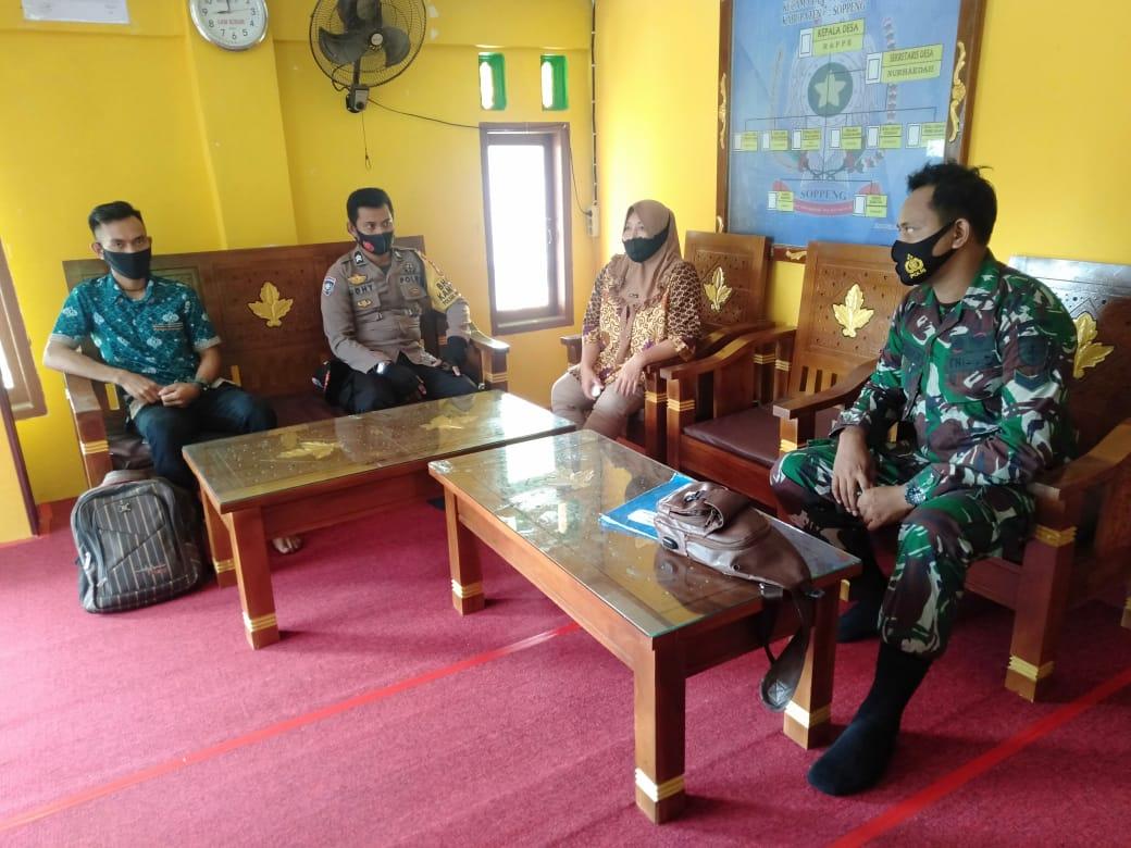 Sinergi Untuk Negeri, Babinsa Dan Bhabinkamtibmas Bangun Soliditas Di Desa Gattareng