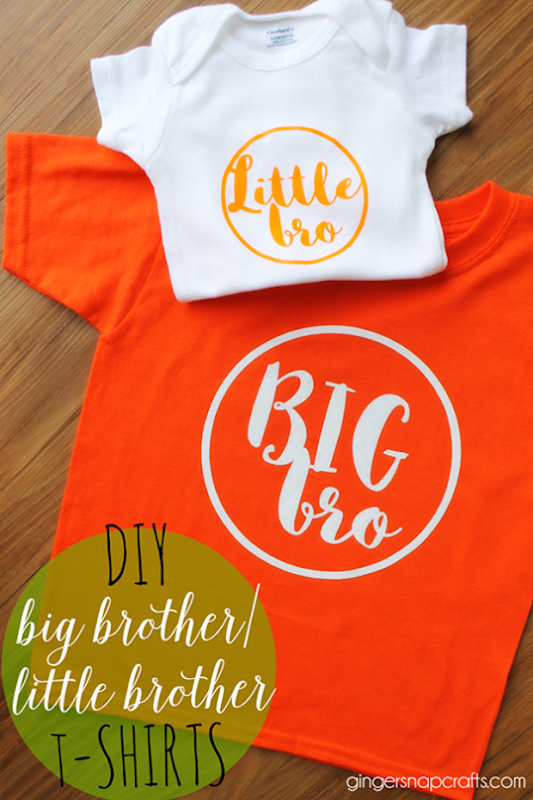 DIY Big Brother Little Brother T-Shirts at   GingerSnapCrafts.com #DIY #tshirt #heattransfervinyl_thumb