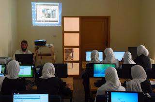 Girls' computer class at AEC