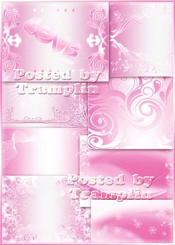 Мягкий розовый фон - Backgrounds - С мягкими розовыми и белыми градиентами