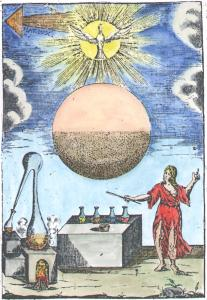 Engraving From Work Of Giovanni Battista Diana Paleologo 1656 1744, Alchemical And Hermetic Emblems 1