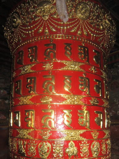 Restored prayer wheel, Rachen Nunnery, Tsum, Nepal, September 2012. Photo courtesy of Kopan Monastery.