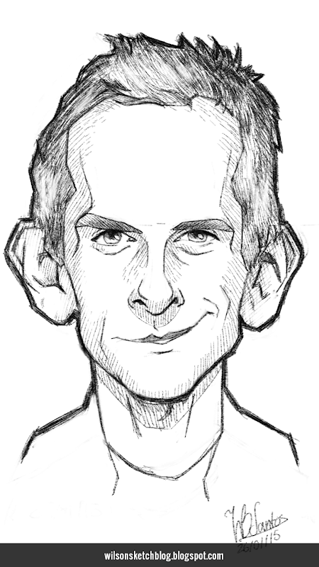 Caricature sketch of Ben Stiller.