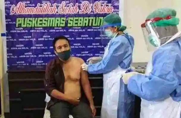 Anggota Komisi I DPRD Kotabaru Ini Divaksin Tahap Pertama
