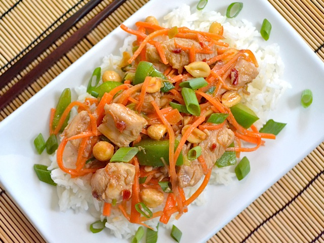 serve kung pao chicken