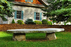 Flagstone Slab Bench