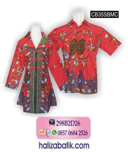Baju Batik Sarimbit, Baju Batik Muslim, Grosir Baju Batik, CB35SBMC