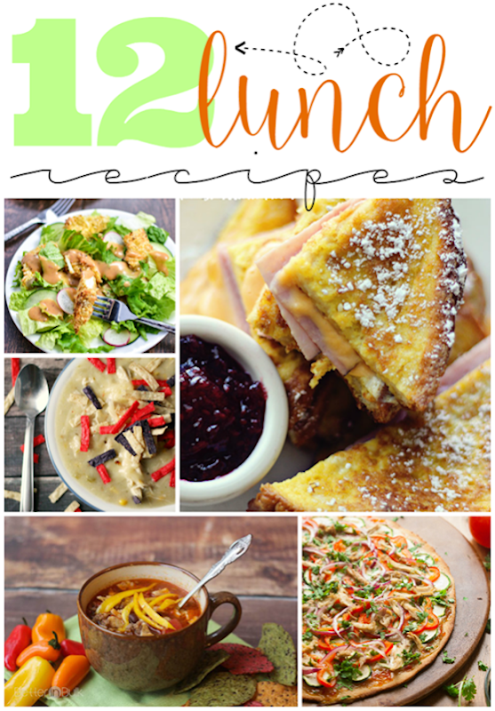 12 Lunch Recipes at GingerSnapCrafts.com #linkparty #features_thumb[2]
