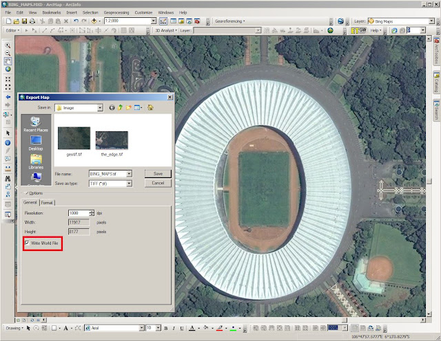 Download Citra Satelit Resolusi Tinggi dari Bing Maps di ArcGIS Desktop 10