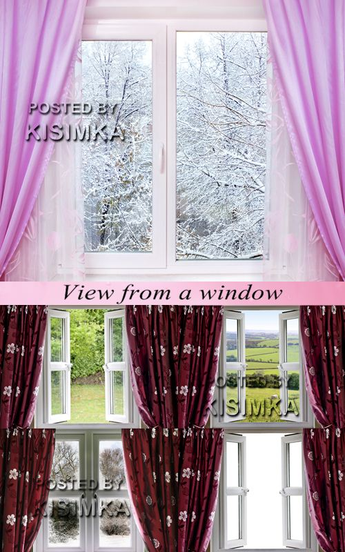 Stock Photo: View from a window