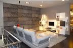 divano Limes Saba Italia visibile nella nostra espozizione di Zogno Bergamo, visto da dietro