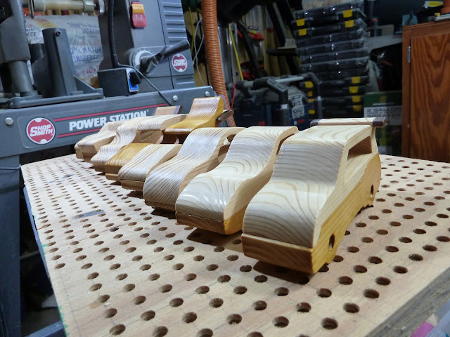 "Handmade Wood Toy Cars ""Speedy Wheels"" Group Shot"