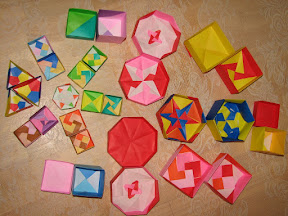 """Origami Boxes (inside view) from Tomoko Fuse's """"Origami Boxes""""."""