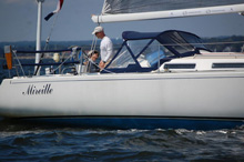 J/120 offshore cruiser-racer sailboat- sailing double-handed in Vineyard Race