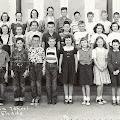 Jefferson fourth grade 1953.  Back row:  ?, ?, Sherry Wilmott, Sandra Woods, ?, Dennis King, Dave Warren, John Jewett, Paul Lewis, Mrs. Durst.  Middle row:  Karen Gatskill, ?, Helen Cochran, Dorie Dayton, Cliff Stice, Peter Carico?, Fred McKinnon, Kathy O Rourke, Sue Dunning, Jerry Eldridge.  Front row:  Drew ?, Peter Carico?, Earl Bradford, Bob Hodgson, ?, Janice Johns, Bonnie Green, Carol Browne, ?, ?