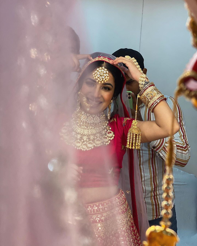 Marriage Certificate ਤੋਂ ਬਾਅਦ ਹੁਣ ਲਾਲ ਜੋੜੇ 'ਚ Viral Sara Gurpal married Photo Pics Bigg Boss 14' contestant Sara Gurpal married