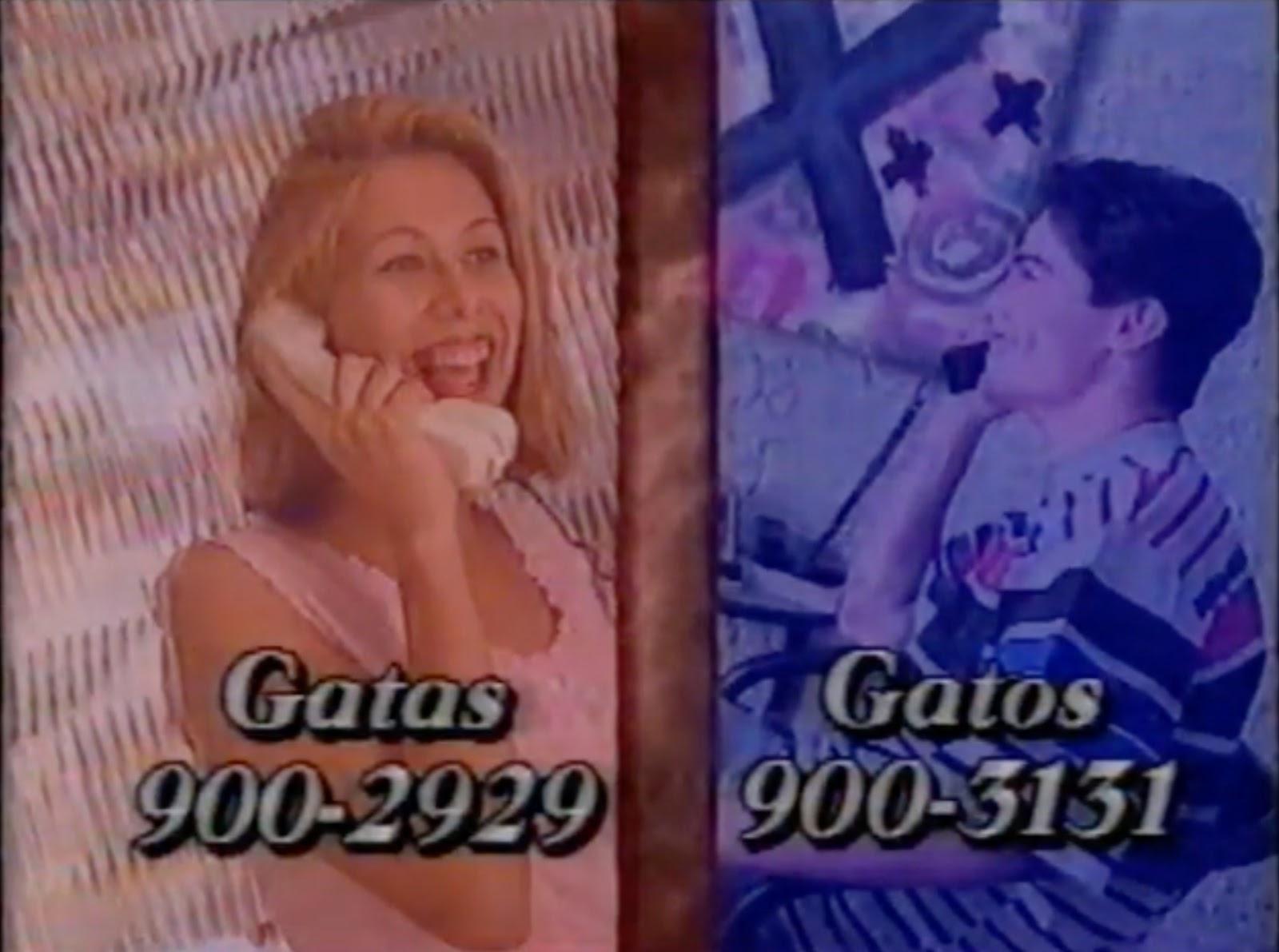 Propaganda veiculada em 1995 promovia o serviço de namoro por telefone chamado de Linha Cruzada