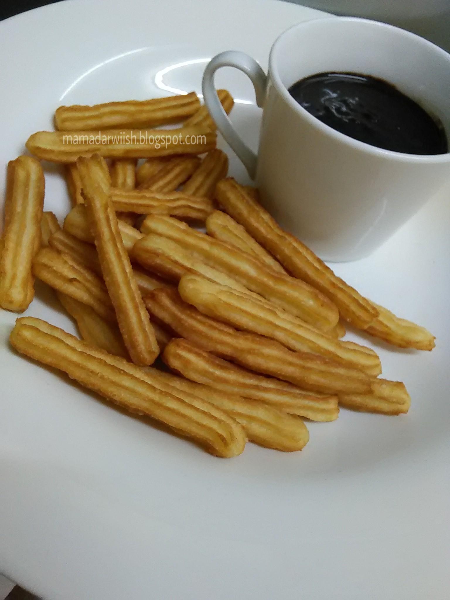 resepi churros sos coklat vkebaya Resepi Kuih Untuk Berbuka Puasa Enak dan Mudah