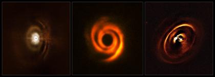 discos planetários em torno de estrelas