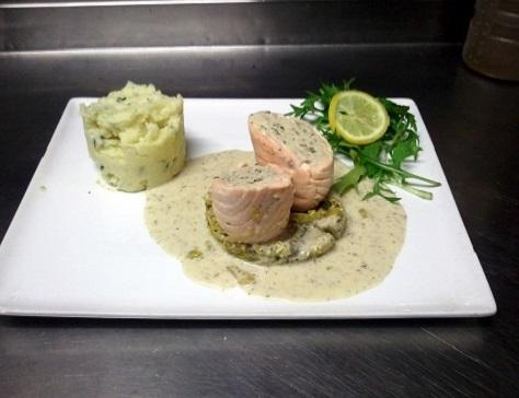 recette des balotines de saumon farcies au mérou