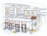 Rendered Kitchen - Michelle Morelan Design