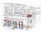 Rendered Kitchen - Michelle Morelan Design
