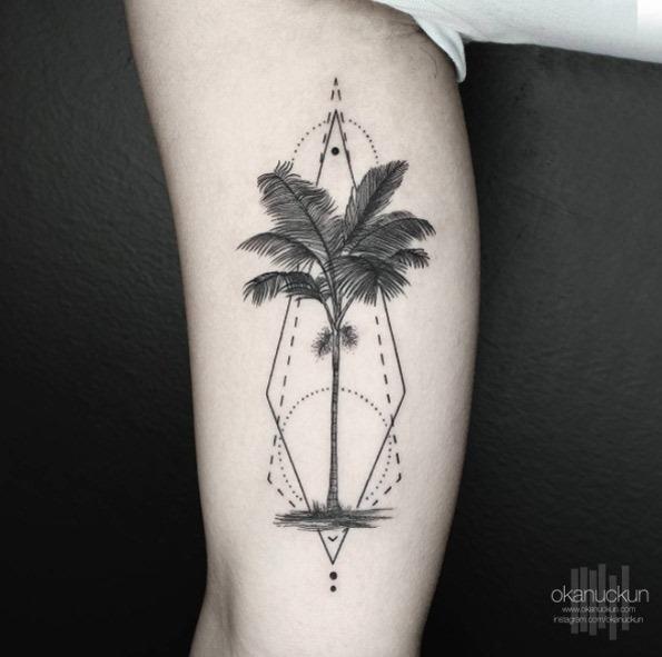 geomtricas_palma_braço_de_tatuagem