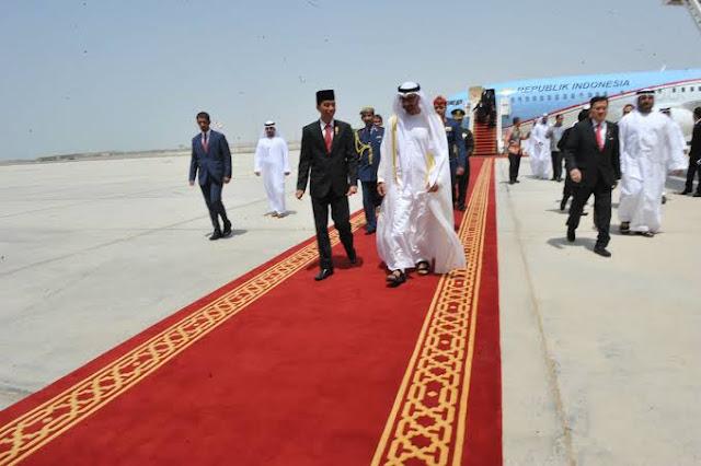 Indonesia-Cina Panas di Natuna, Jokowi Jemput Investasi ke Uni Emirat Arab