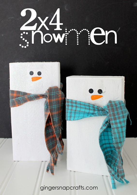 2x4 Snowmen Tutorial at GingerSnapCrafts.com #gingersnapcrafts #tutorial_thumb