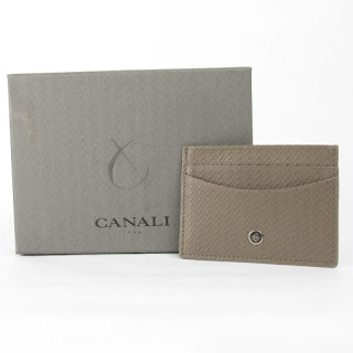 Canali NEW Leather Card Wallet