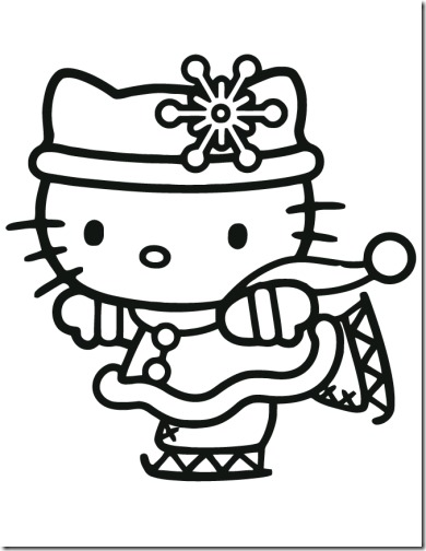 Hello Kitty navidad para colorear - colorear tus dibujos