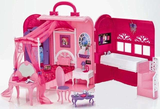 Hình ảnh bộ đồ chơi Phòng ngủ, nhà tắm cho búp bê Barbie thật đẹp mắt