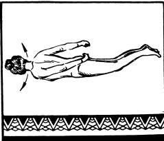 повороты: сначала на один бок, затем на другой, касаясь в каждом случае плечом пола