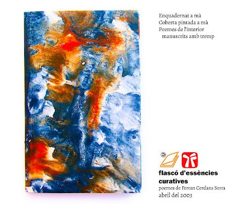 Llibre poema Flascó d'essències curatives, Ferran Cerdans Serra, 2003