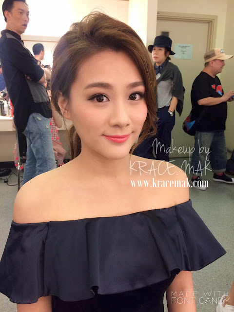 Eunice Chan, makeup by the Hong Kong Makeup Artist Krace Mak in TVB for charity show