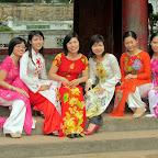 Hanoi - Literaturtempel - junge Doktoranden