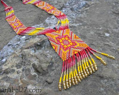 купить яркие этнические украшения из бисера украина