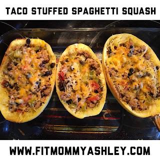 21 day fix, healthy, clean, recipes, turkey, stuffed, spaghetti squash